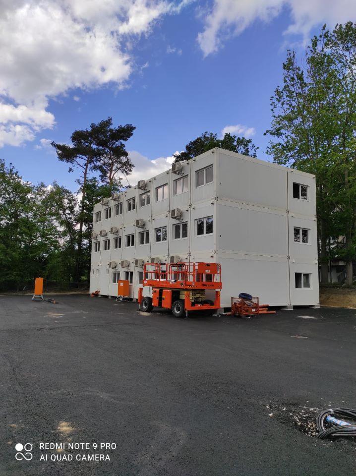 Modulové stavby, zázemí výstavby nemocnice